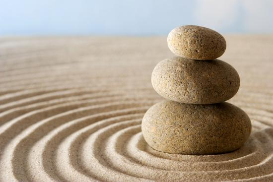 Zen stones in New York for acupuncture
